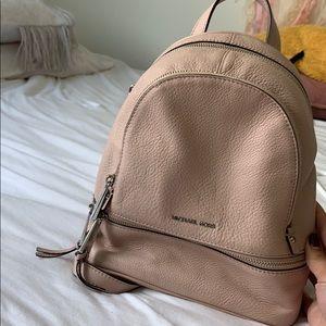Soft Pink Michael Kors Rhea Backpack (Small)